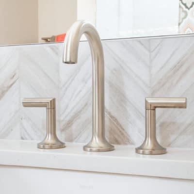 brizo lavatory faucet shown in brushed nickel finish