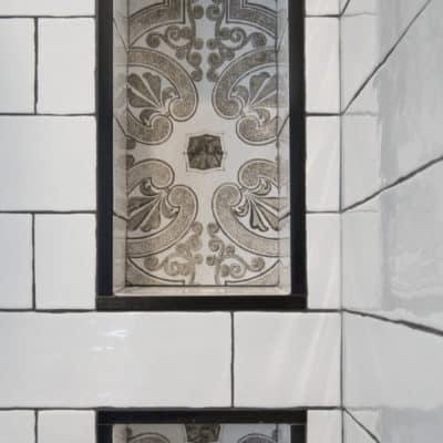 tiled niche in shower