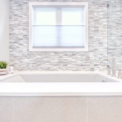 undermount kohler tub shown in recent bathroom design