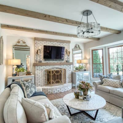 home remodeling project in barrington featuring exposed beams