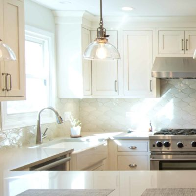 handmade backsplash tile featured in new custom kitchen