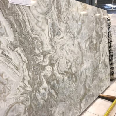 marble slab selected for new kitchen design