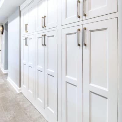 tall utility cabinetry makes for excellent kitchen storage